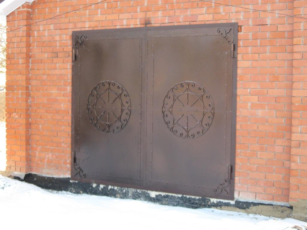 Красивые ворота в гараж своими руками 43