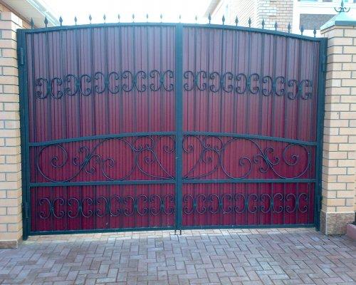Ковка на ворота из профнастила своими руками